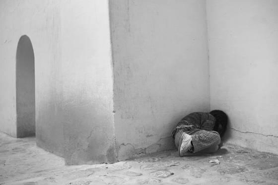 Child in corner