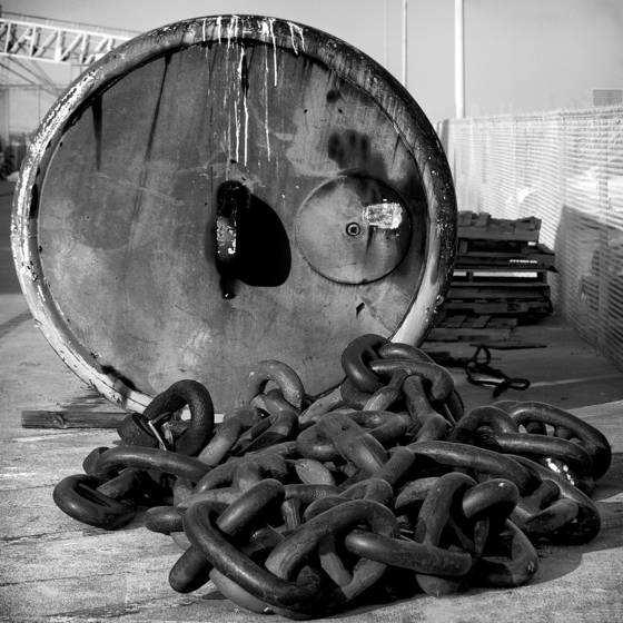 Drum and chains