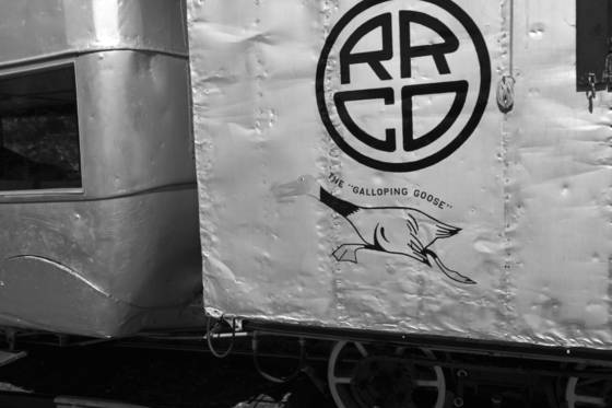 Trains galloping goose symbol