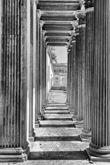 A tunnel of columns  istanbul turkey 2012