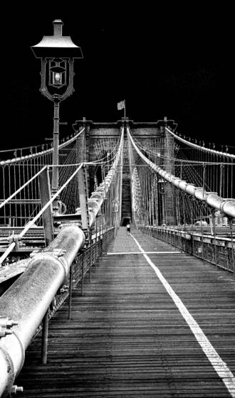 07 brooklyn bridge with light stanchion  new york city