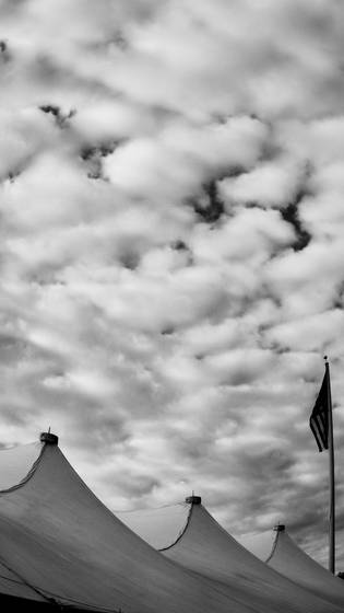 Tent and clouds  2