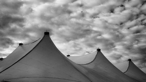 Tent and clouds