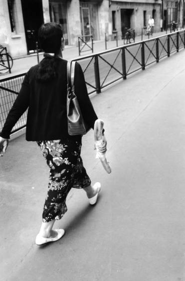 Woman with baguette