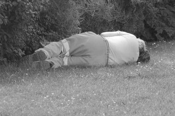 Sleeping  london england