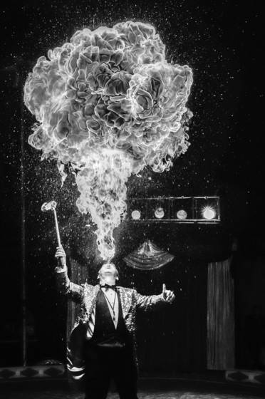 Human flame thrower