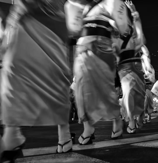Matsuri festival dancers