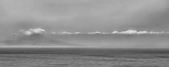 Misty horizon  amalfi coast  italy