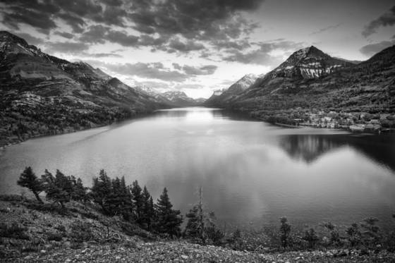 Dusk at waterton ii