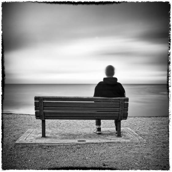 Bench with man