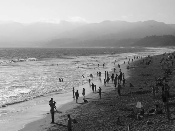 Santa monica beach looking north