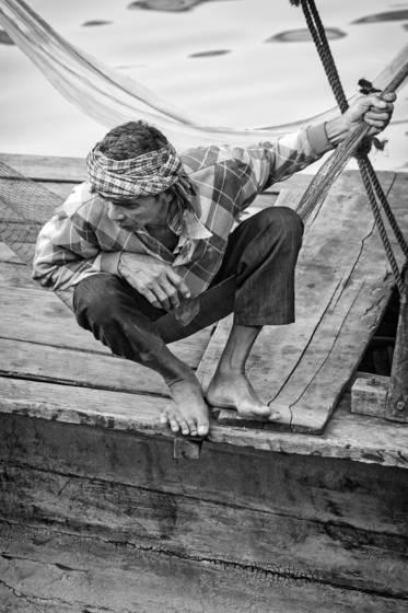 Snakehead fisherman