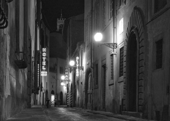 Florence alley at night