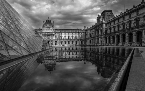 Storm over louvre