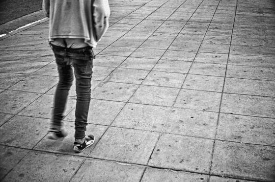 Homeless walking