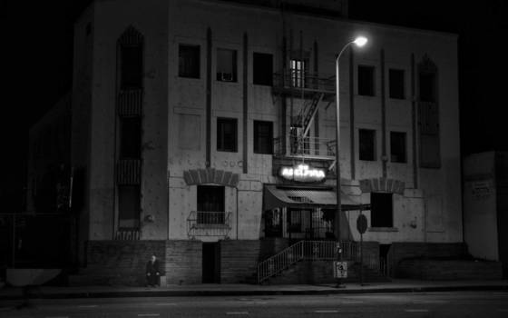 Old man   abandoned building