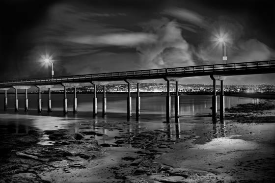 Ocean beach nocturne