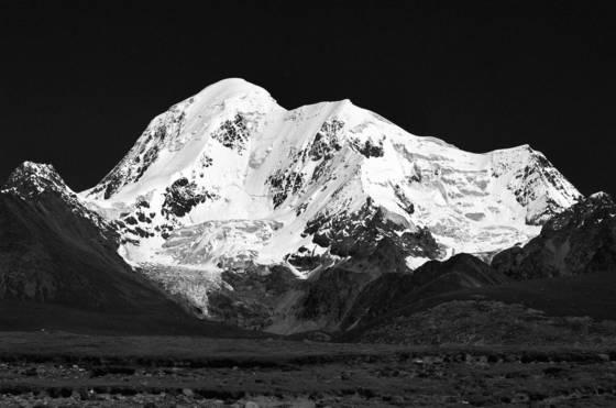 Glacial clad peak