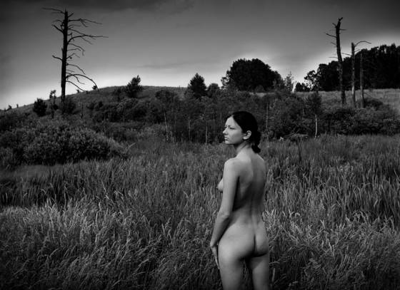 Landscape with nude