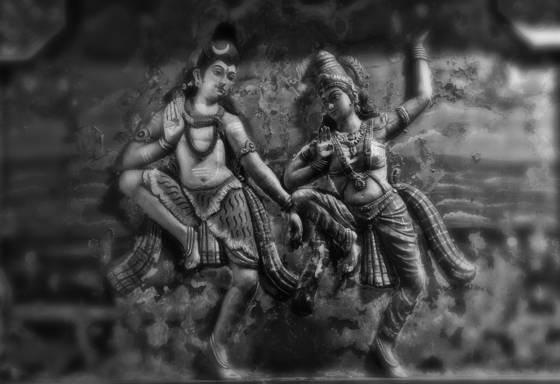 Dancing siva and parvati