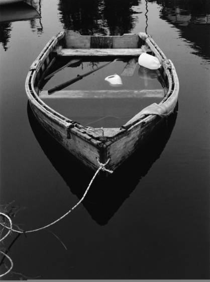 Lonely rowboat
