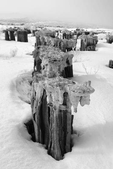 Sand tufa in winter