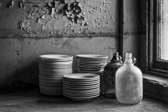 Plates and bottles