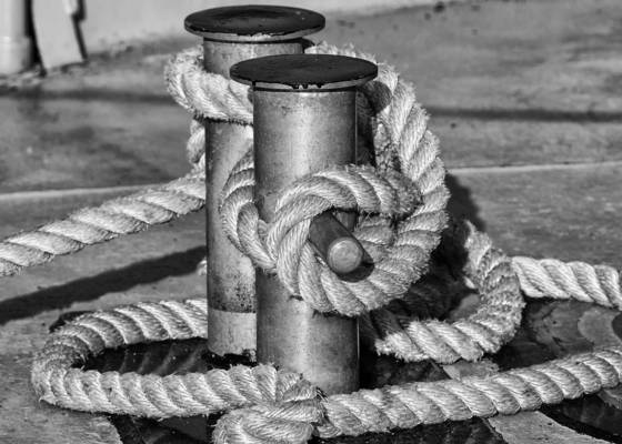 Rope on stanchion