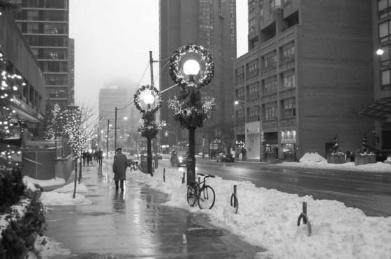 Old man winter walk