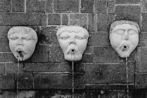 Three faces of water