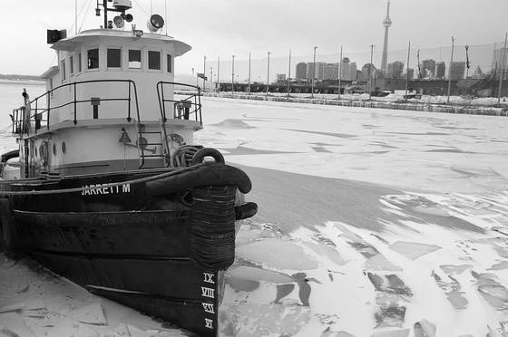 Tug boat and the city