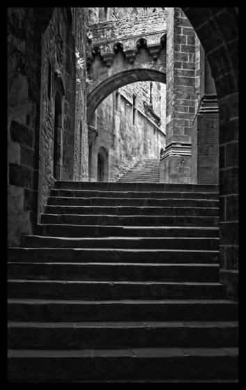 Stairway mont saint michel