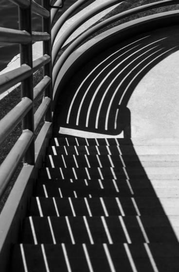 Shadowed stairway