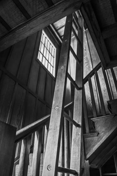 Organ loft stairs