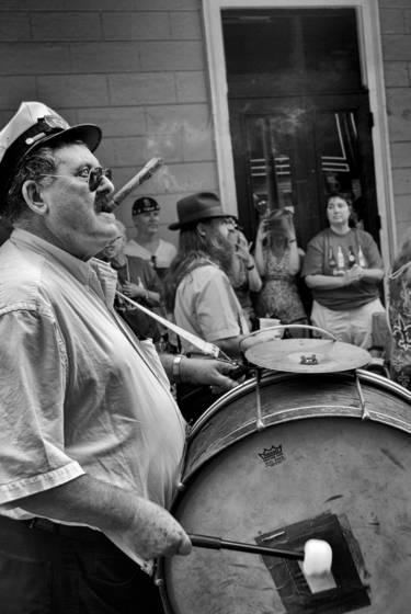 Bass drummer with cigar