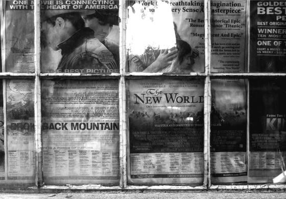 Newspaper in window