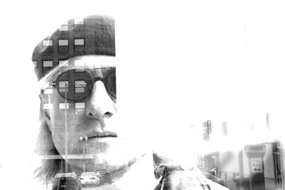 Self portrait on one way street 1