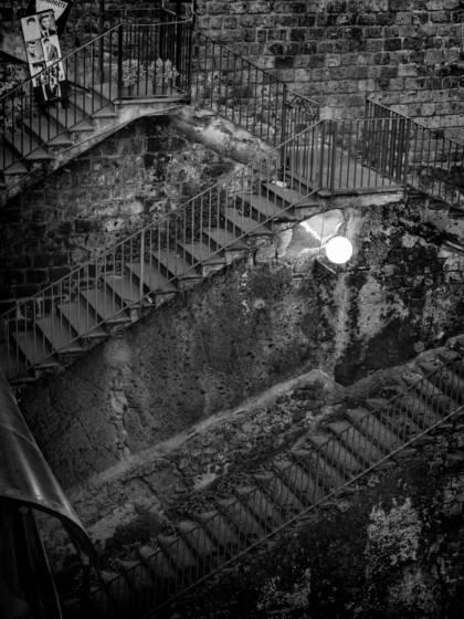 Stairs near piazza tasso