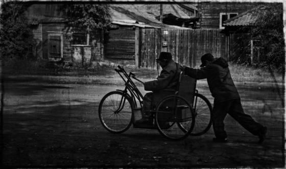 On the street of minusinsk