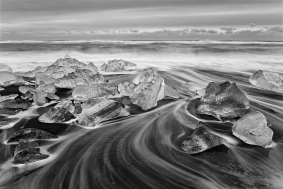 Glacial beach ice 1