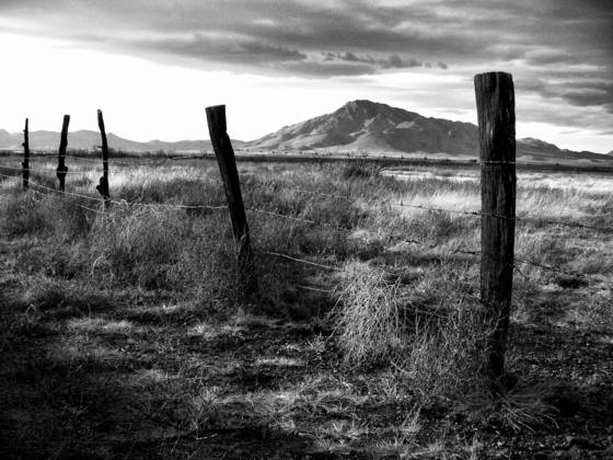 Fence and cerro grande