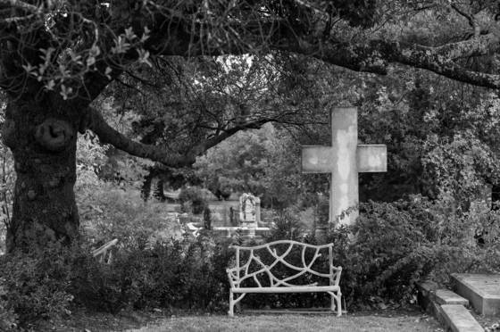 Cross and bench