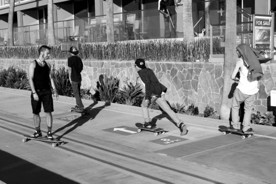 Skaters at mission beach