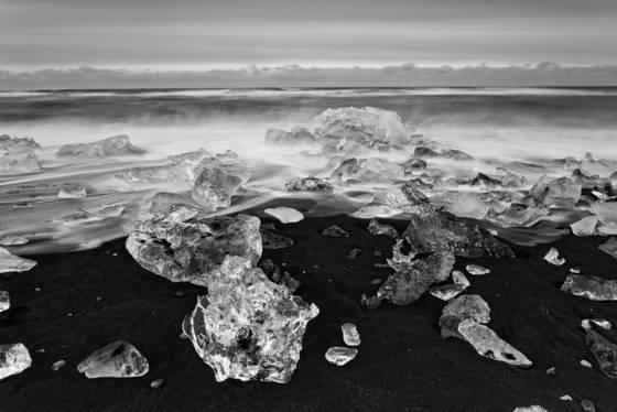 Glacial beach ice 2