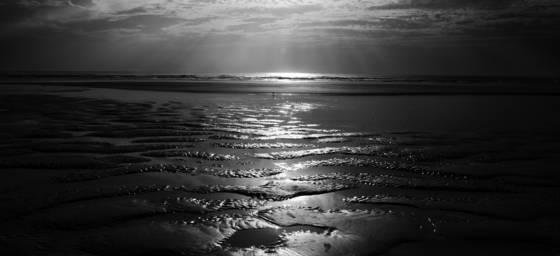 Crescent beach sunrise