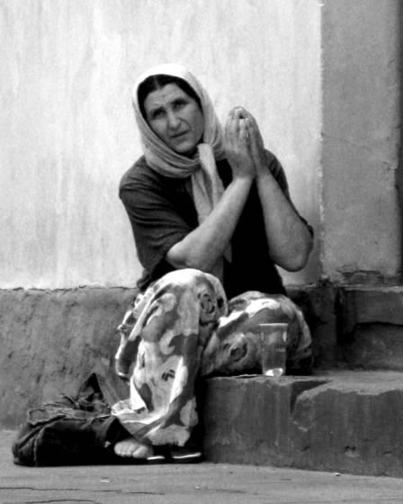 Gypsy beggar