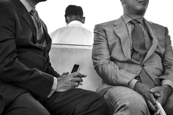 Men on ferry