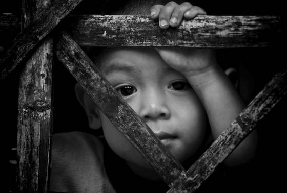 Child refugee camp