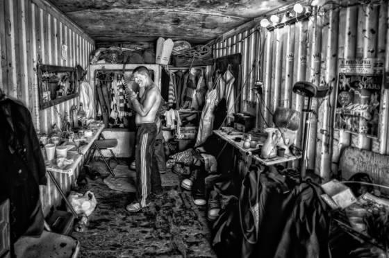 Clown dressing room