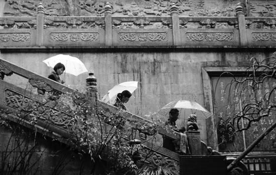 The umbrellas of lingyin temple